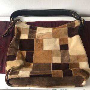Coach suede patchwork bag